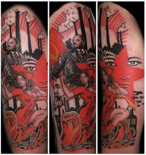 Татуировки с изображением Ленина10