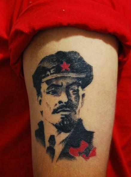 Татуировки с изображением Ленина12