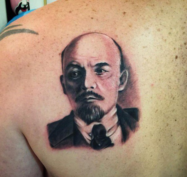 Татуировки с изображением Ленина14