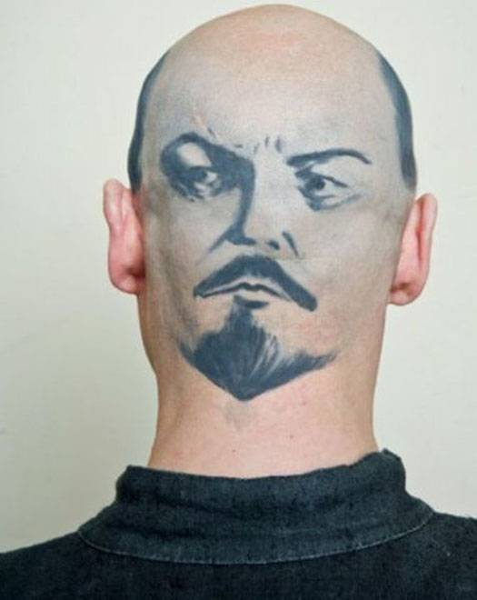 Татуировки с изображением Ленина