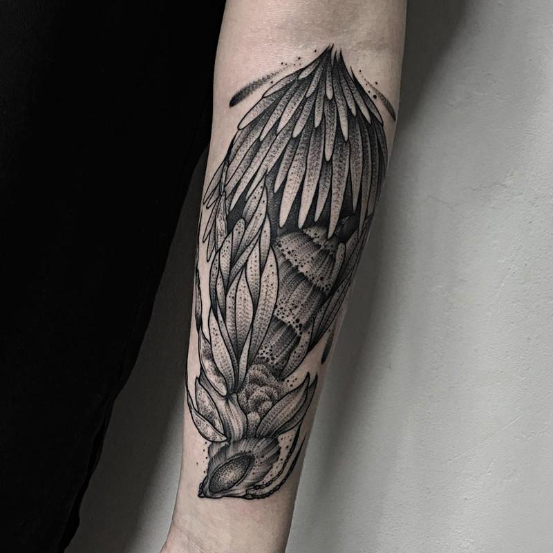 мрачное очарование татуировок блэкворк11