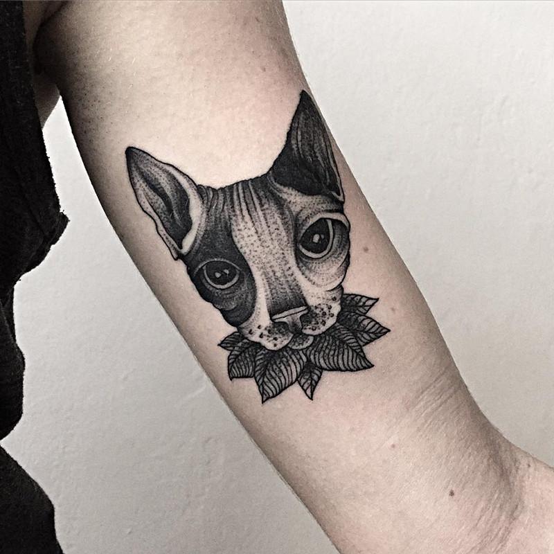 мрачное очарование татуировок блэкворк13