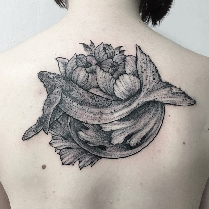 мрачное очарование татуировок блэкворк16