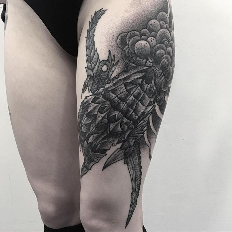 мрачное очарование татуировок блэкворк18