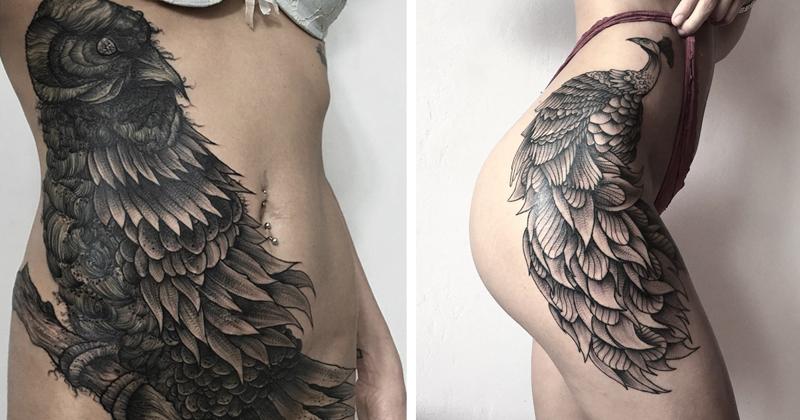 мрачное очарование татуировок блэкворк