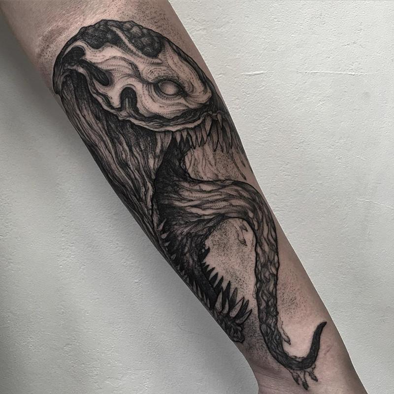 мрачное очарование татуировок блэкворк22