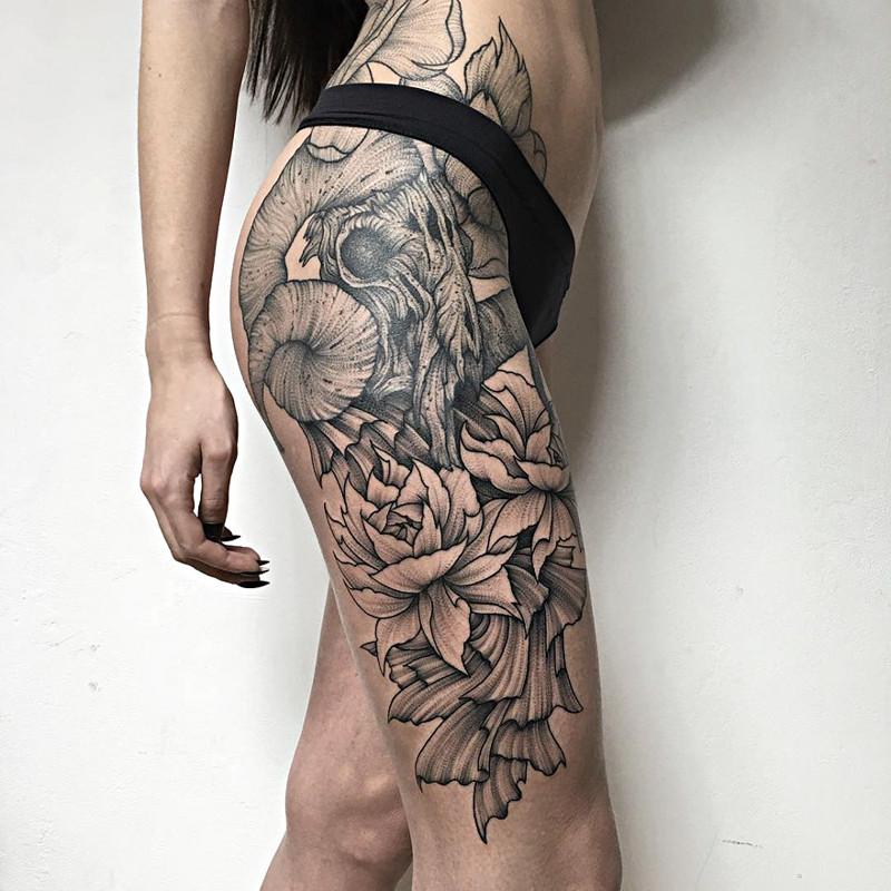 мрачное очарование татуировок блэкворк24