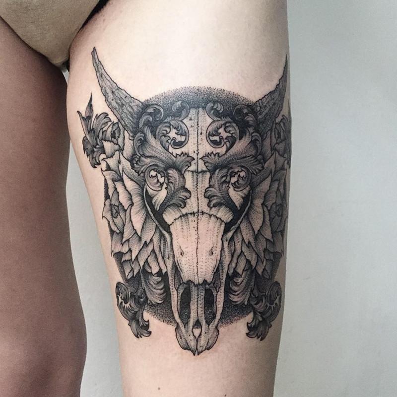 мрачное очарование татуировок блэкворк30