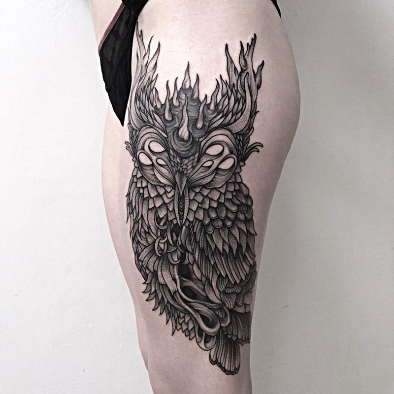 мрачное очарование татуировок блэкворк33
