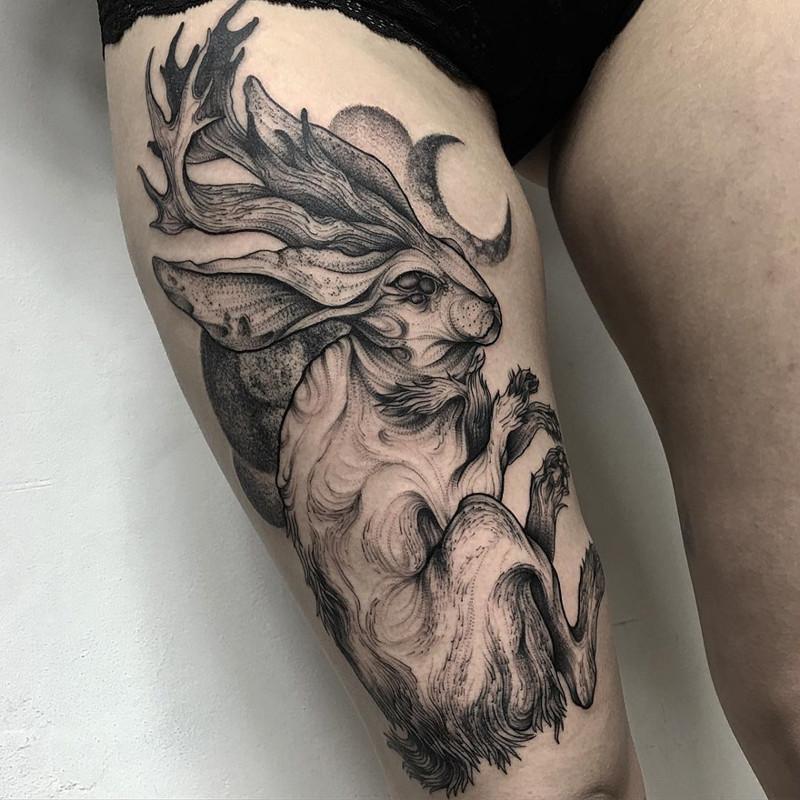 мрачное очарование татуировок блэкворк38