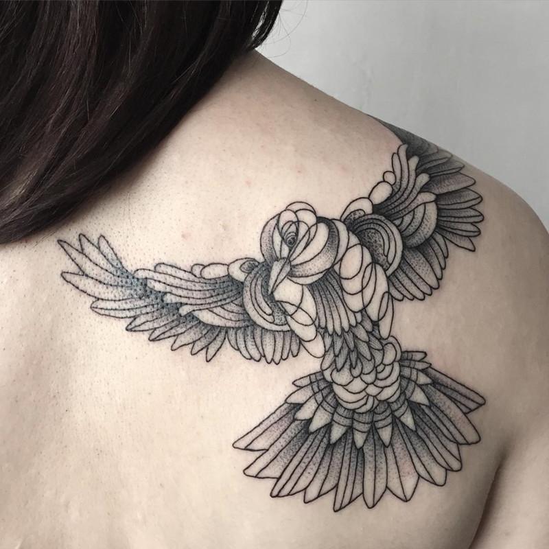 мрачное очарование татуировок блэкворк41