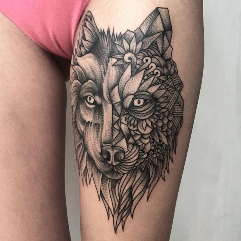мрачное очарование татуировок блэкворк43