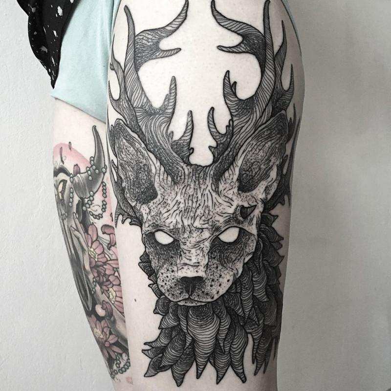 мрачное очарование татуировок блэкворк44
