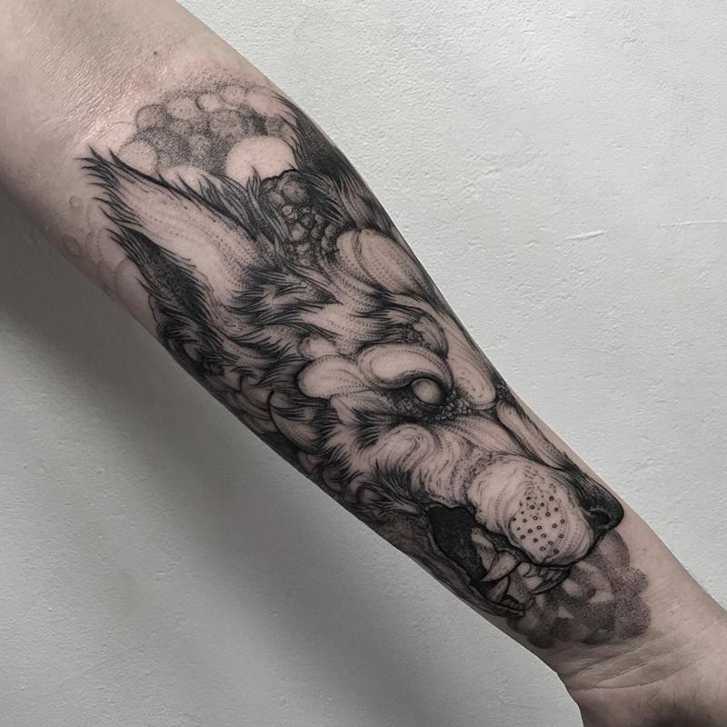 мрачное очарование татуировок блэкворк45
