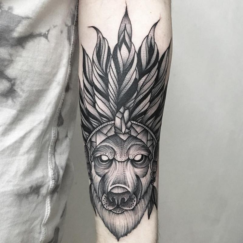 мрачное очарование татуировок блэкворк46