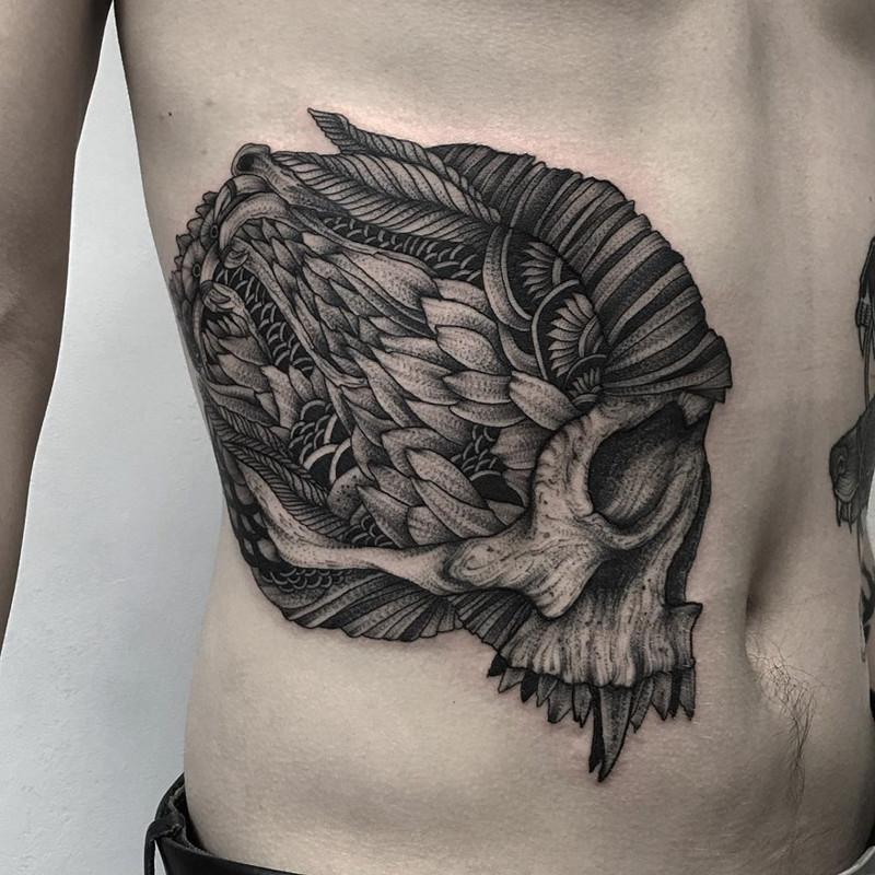 мрачное очарование татуировок блэкворк47