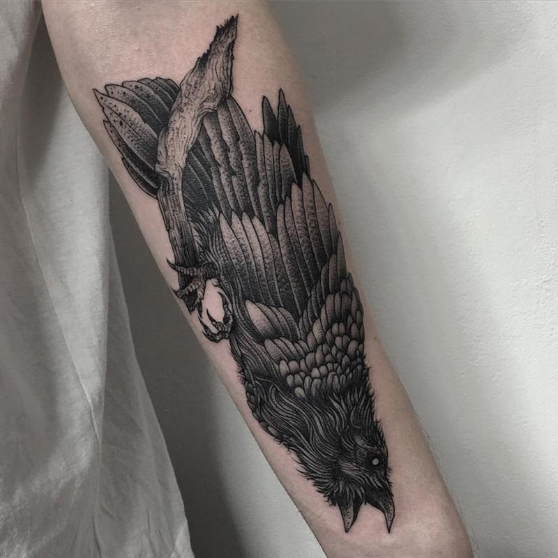 мрачное очарование татуировок блэкворк48