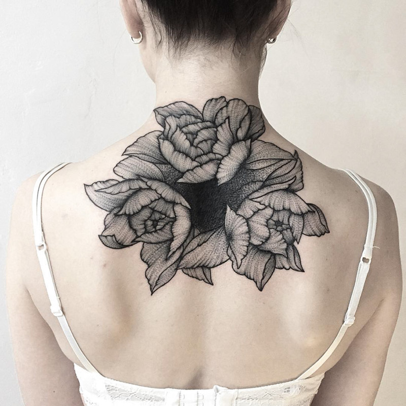 мрачное очарование татуировок блэкворк5