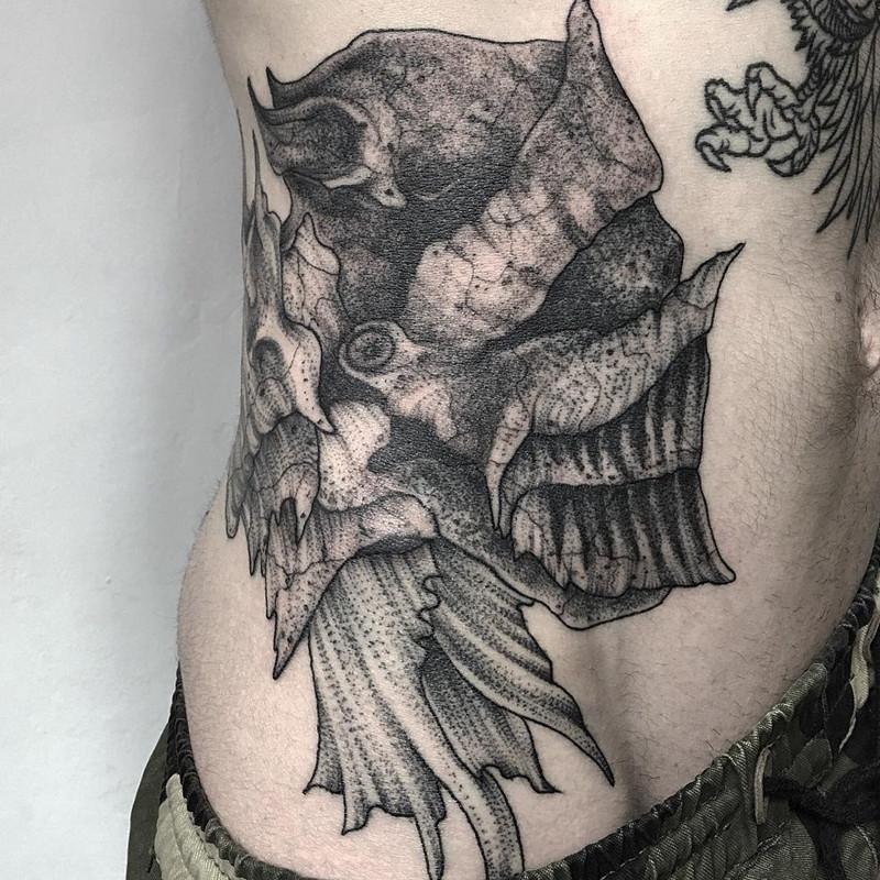 мрачное очарование татуировок блэкворк7