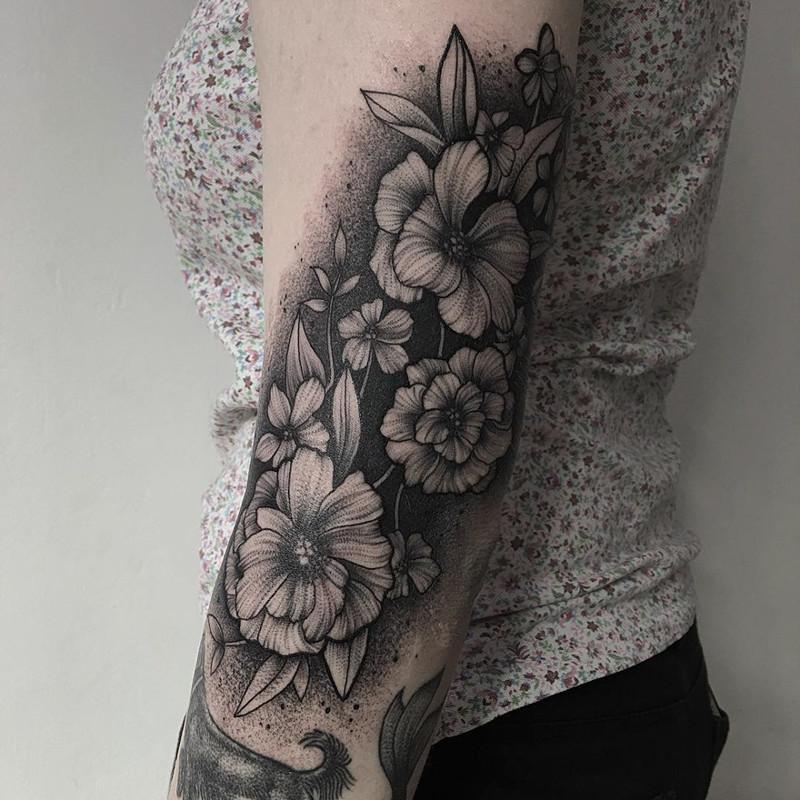 мрачное очарование татуировок блэкворк8