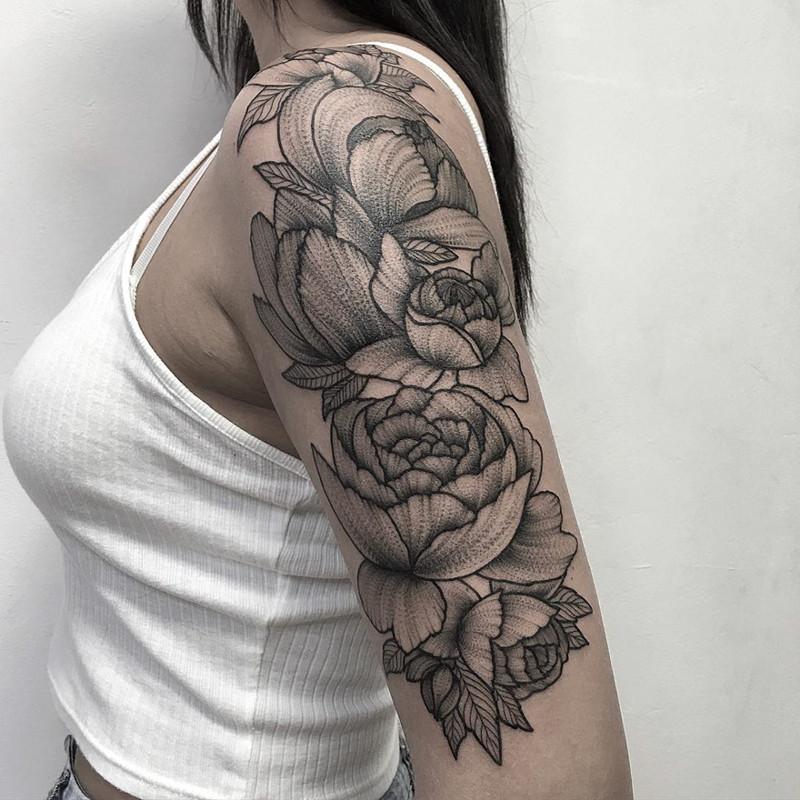 мрачное очарование татуировок блэкворк9